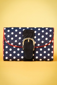 60s Garda Dots Purse in Navy and White
