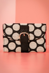 60s Garda Polkadot Purse in Black