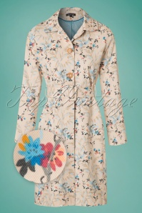 King Louie Loren Ecru Floral Coat 151 58 20228 20170315 0003wv