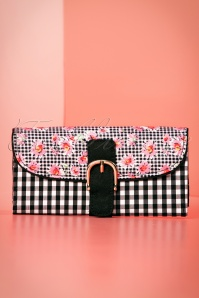 60s Cosmo Purse in Black and Pink