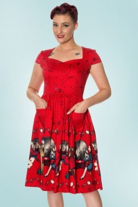 Dancing Days by Banned Meadows Red Swing Dress 102 27 20952 20170316 01