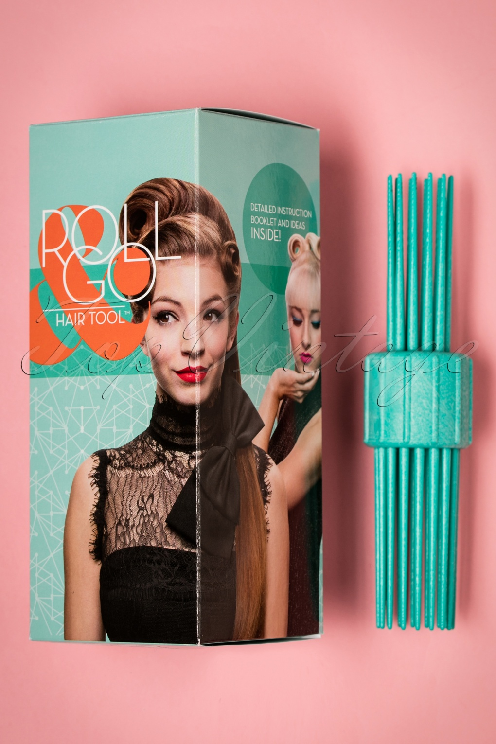 Authentic 1950s Makeup History and Tutorial Vintage Hairstyling RollGo Pin Curl Hair Tool Set £26.63 AT vintagedancer.com