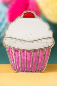 60s Sweetest Cupcake Shoulder Bag Ever in Pink
