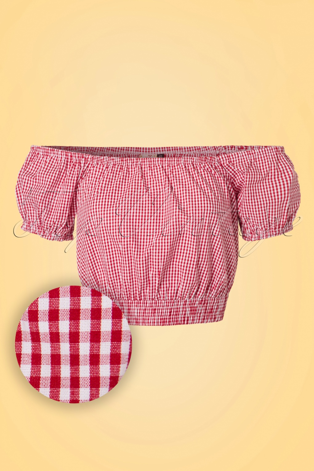 1940s Blouses, Shirts and Tops Fashion History 50s All Mine Gingham Top in Red £26.02 AT vintagedancer.com