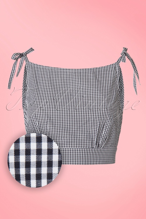 Dancing Days by Banned Fushion Top White Black Checked 110 14 20963 20170316 0003W1