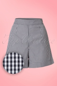 50s Easy Streets Shorts in Black Gingham