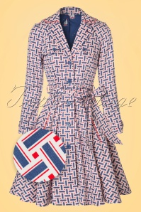 50s Glienicke Spy Swap Trenchcoat in Fishermans Daughter Blue