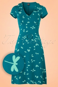 Mademoiselle Yeye Chloe Dress in Blue Dragonfly 19887 20161116 0004W1