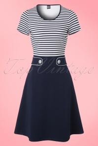 Mademoiselle Yeye Isla Dress in Stripes 19890 20161116 0002W