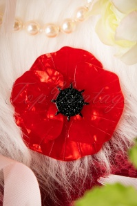 TopVintage Exclusive ~ 60s Poppy Field Brooch