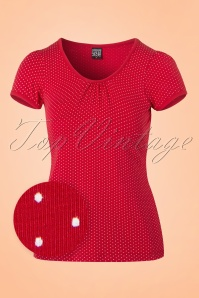 Mademoiselle Yeye Gwen Top in Red Dots 19880 20161117 0003wv