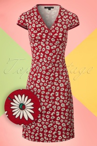 King Louie Icon Red Daisy Cross Dress 100 27 20280 20170214 0002W1
