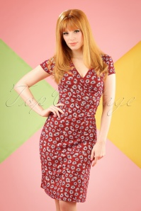60s Summer Meadow Cross Dress in Icon Red