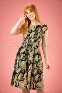 50s Arizona Banana Dress in Navy