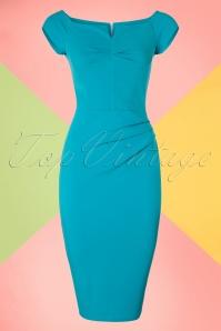 Vintage Chic Turquois Pencil Dress 100 32 19391 20160708 0007W