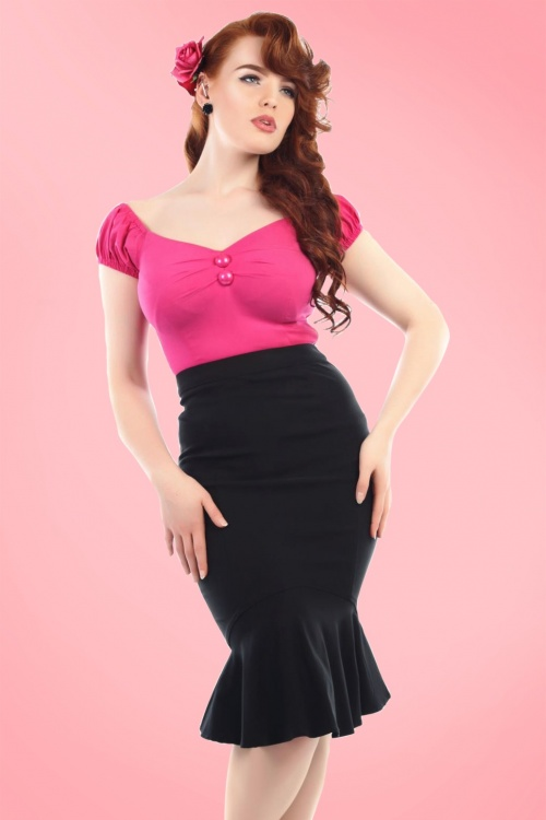 dafaa497e42 2Collectif Clothing Winifred Black Fishtail Skirt 120 10 16181 1