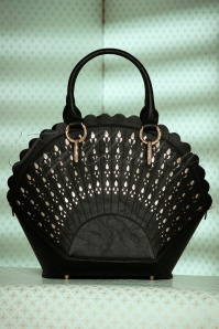 30s Adana Art Deco Handbag in Black