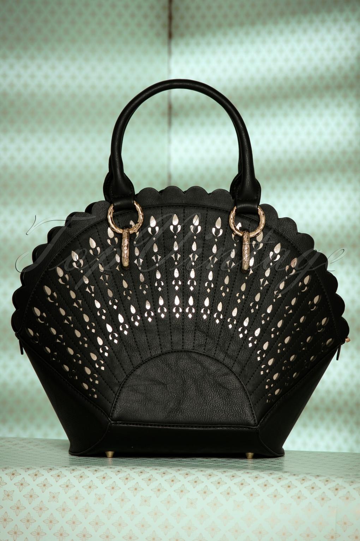 30s Adana Art Deco Handbag in Black