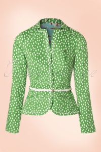 60s Strasse Der Besten Blazer in Fresh Lot Dots Green