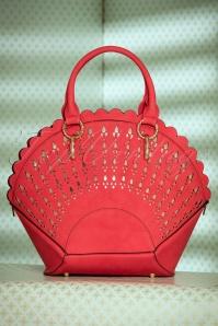 Adana Art Deco Handbag Années 30 en Rouge