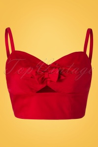 Collectif Clothing Ariel Top Plain Red 20668 20161201 0002W