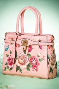 La Parisienne Pink floral Handbag 212 29 21555 03202017 025W