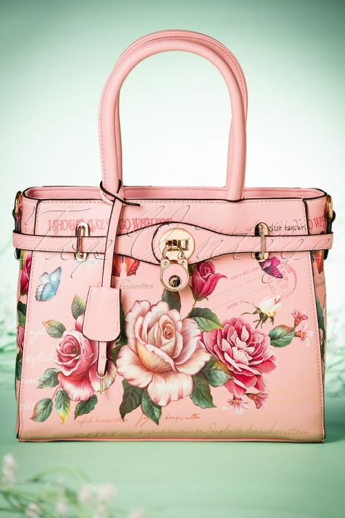 La Parisienne Pink floral Handbag 212 29 21555 03202017 014W