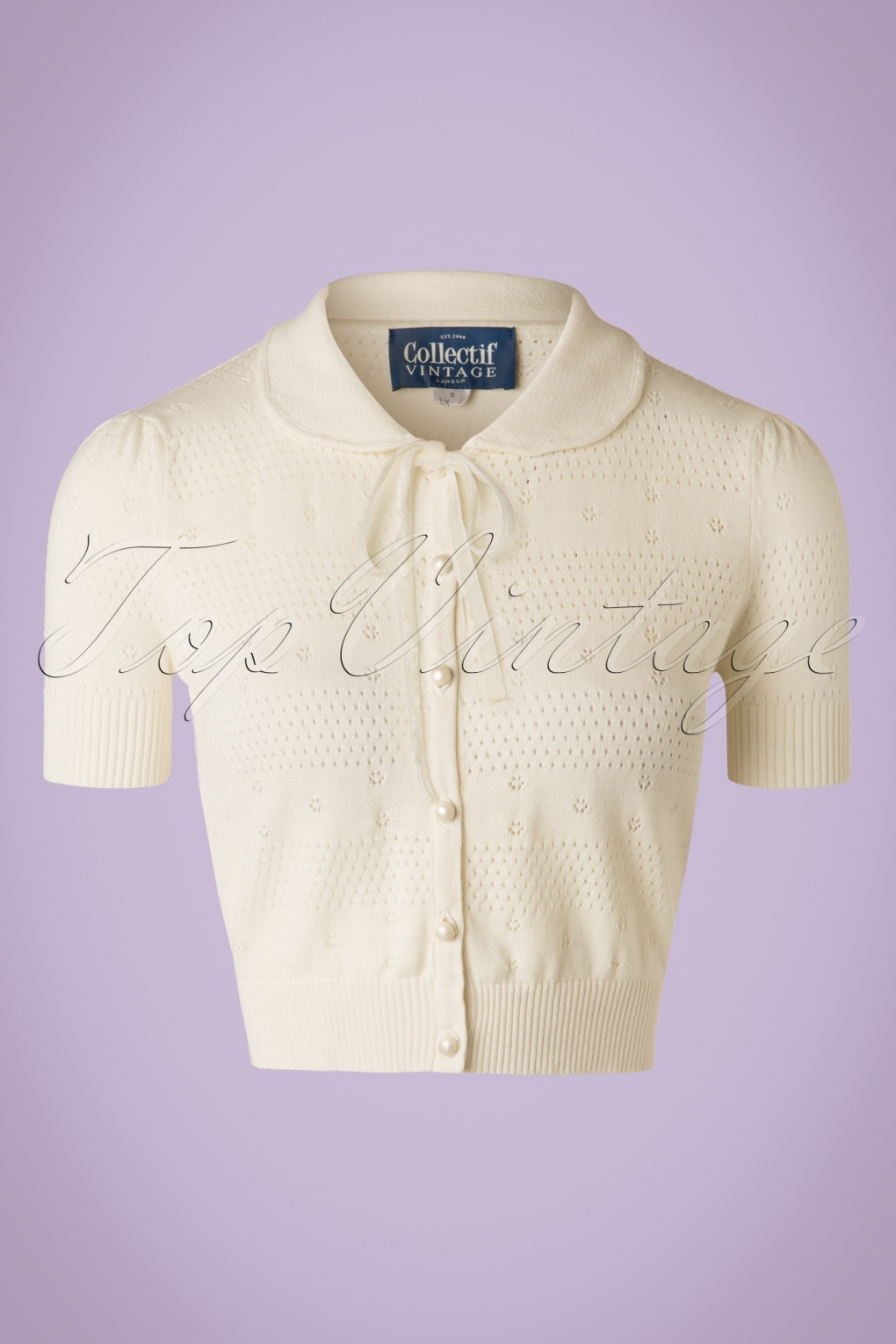 1950s Style Sweaters, Crop Cardigans, Twin Sets 40s Carly Cardigan in Ivory White £37.79 AT vintagedancer.com