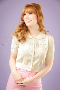 Collectif Clothing Carly Cardigan in Ivory 20754 20161130 1W