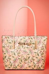 60s Jenny Floral Handbag in Beige