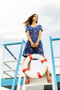 Blutsgeschwister Muggelsee Marine Boat Sailor Navy Dress 102 39 19661 20170321 0022zonder tekst