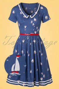50s Muggelsee Matrosin Dress in Miss Baltic Sea Blue