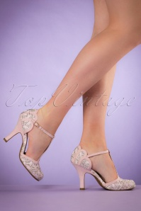 50s Polly T-Strap Pumps in Pink