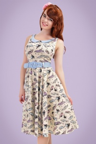 Collectif Clothing Kitty 50s Car Swing Dress 20694 20161129 006