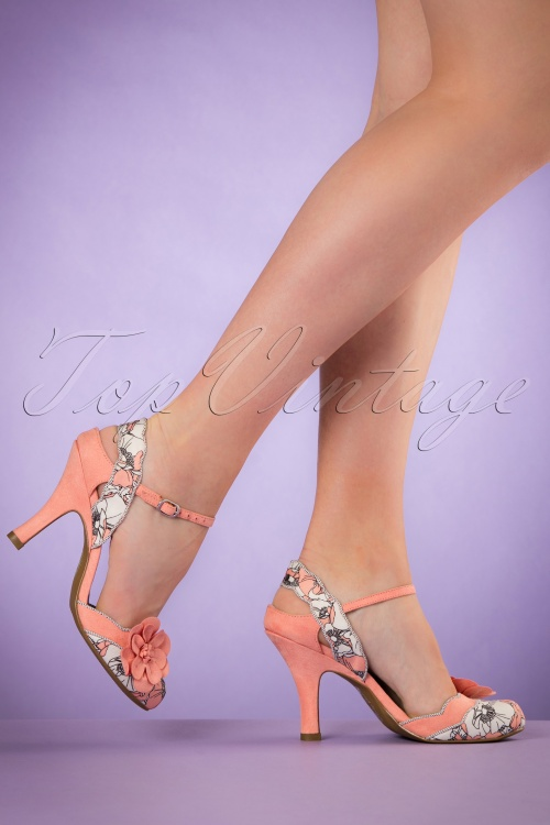 Ruby Shoo Heidi Pumps in Peach 402 57 19806 model 03082017 006W