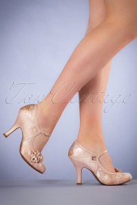 50s Yasmin Pumps in Rose Gold