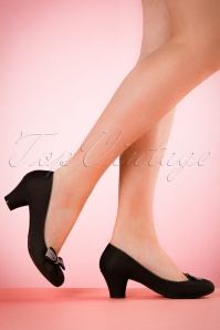 Ruby Shoo Lily Pumps in Black 400 10 19817 model 03082017 004W