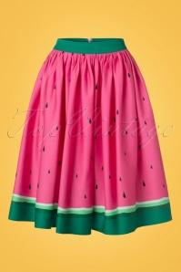 Collectif Clothing Jasmine Watermelon Swing Skirt 20665 20161201 0018w