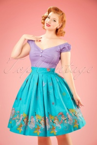 50s Sophia Mermaid Swing Skirt in Aqua