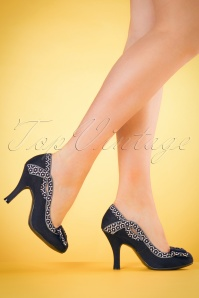 60s Ivy Pumps in Navy
