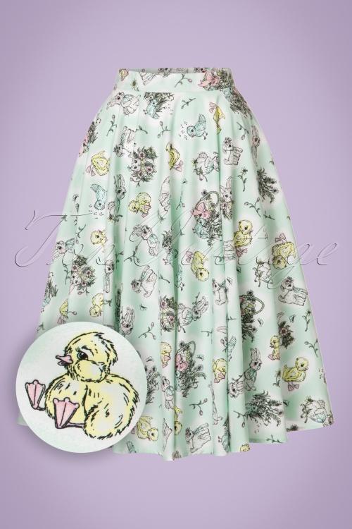 Bunny 50s Mint Easter Swing Skirt 122 49 21060 20170322 0017W1