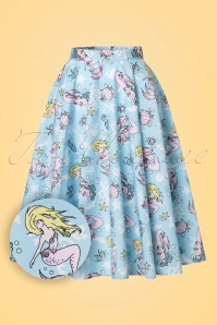 Bunny Andrina 50s Pastel Blue Mermaid Skirt 122 39 21054 20170322 0020W1