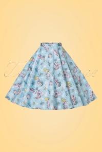 Bunny Andrina 50s Pastel Blue Mermaid Skirt 122 39 21054 20170322 0003W