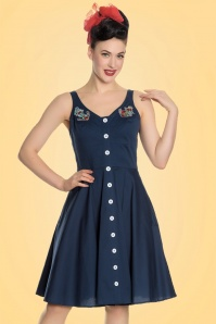 Bunny Sela Dress in Navy Blue 102 31 21069 20170322 001