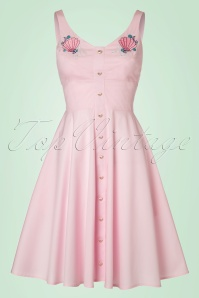 50s Lorelei Swing Dress in Pastel Pink