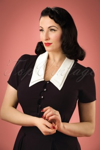 Bunny Black Blouse With White Collar 112 10 19572 20161103 0001W