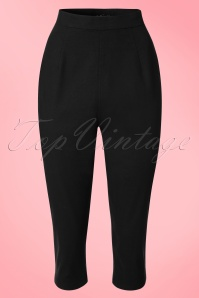 Collectif Clothing Gracie Plain Capris in Black 20648 20161201 0004w