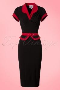 Miss Candyfloss TopVintage Exclusive Black Pencil Dress 100 10 20615 20170223 0001w