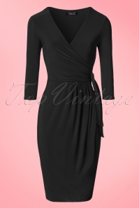 Vintage Chic Side Tie Wrap Dress 100 20 21184 20170223 0002W