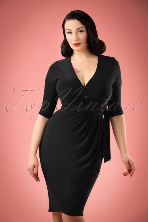 Vintage Chic Side Tie Wrap Dress 100 20 21184 20170223 0001WM